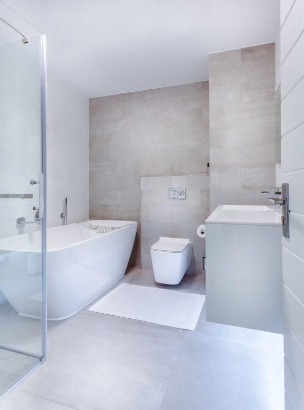 Aménagement lumineux artisan, salle de bain en faïence à Thouaré sur Loire (44)