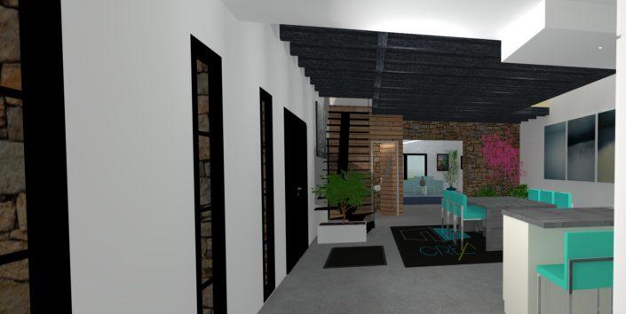 Rénovation d'un salon ambiance cosi à Malville (44)