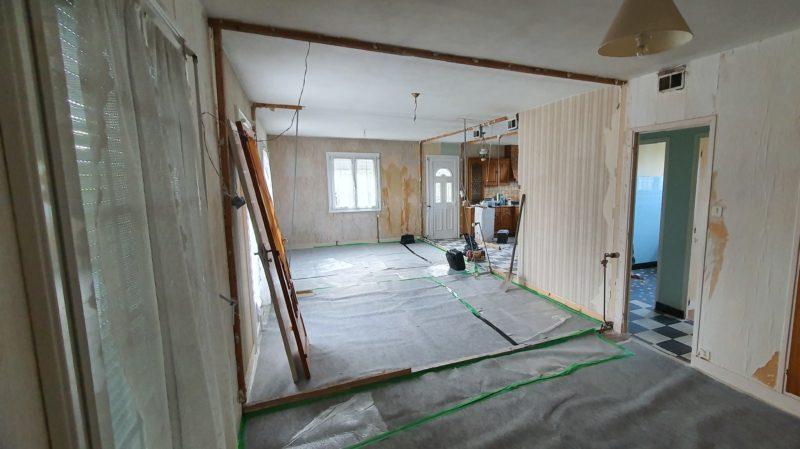Décloisonnement de cette maison nantaise des années 70 à Bouvron (44)